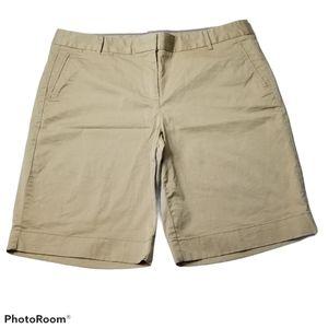 J.Crew Stretch Chino Shorts Women's Size 10